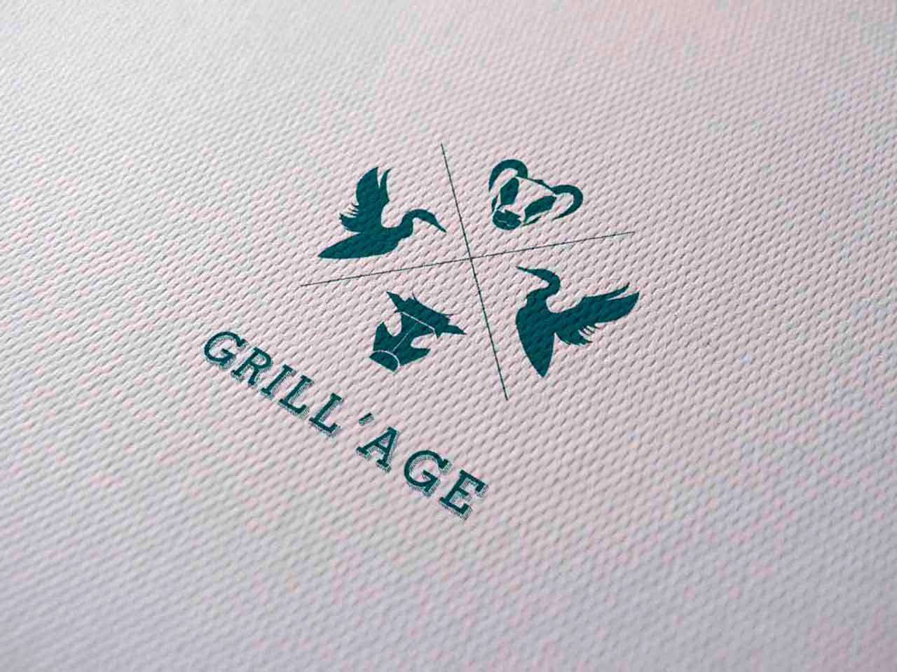 Grill'Age logo on paper