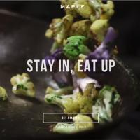 Фальшпол на Maple.com (служба доставки еды в Нью-Йорке)