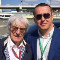 С одним из наших клиентов: Берни Экклстоуном, директором F1