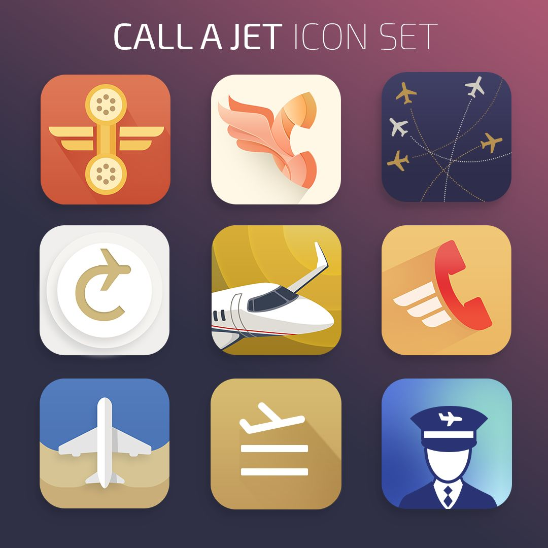 Call a Jet mobile app icons: our team's pick