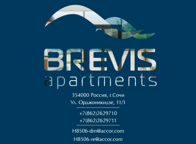 Presentation design for Brevis apart hotel, Sochi (part of Accor Hotels)