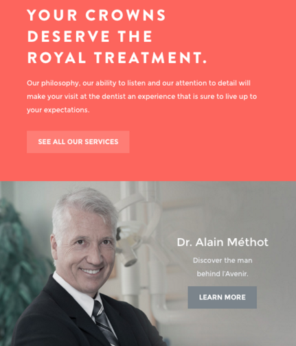 Doctor info on Avenir Clinic (Dr. Alain Methot)