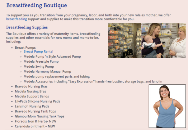 Breastfeeding Boutique at Special Beginnings