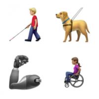 Эмодзи, связанные с инвалидностью, от Apple