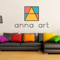 Logo design for Anna Art, interior design studio