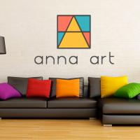 Разработка логотипа студии дизайна интерьеров Анна Арт (Сочи)