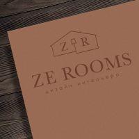 Нейминг и разработка логотипа дизайн-бюро Ze Rooms (Сочи)
