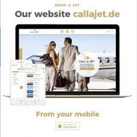 Дизайн и разработка сайта джет-брокера Call a Jet (Бонн, Германия)