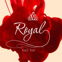 Royal nail bar, Sochi: logo and business card