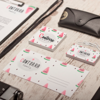 Pattern and business cards for Contorra Family